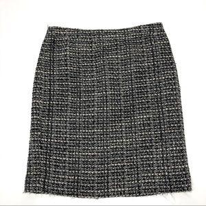 J. Crew Factory Black/Gray Tweed The Pencil Skirt